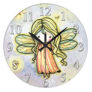 Little Firefly Fairy Girls Clock