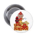 Little Fireman African American T-shirts and Gifts 2 Inch Round Button