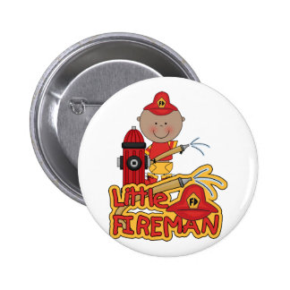 Little Fireman African American T-shirts and Gifts Pinback Button
