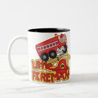 Little Fireman, African American Two-Tone Coffee Mug