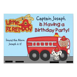Little Fireman Custom Firefighter Birthday Card