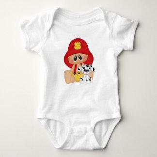 Little Fireman Dalmatian Dog Firefighter Baby Kid Baby Bodysuit