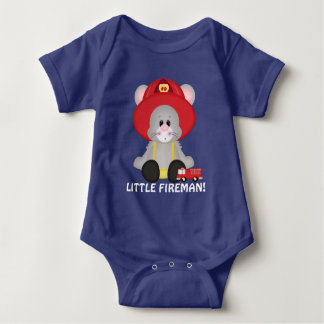 Little Fireman mouse baby boy bodysuit