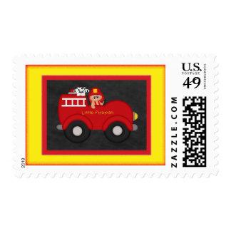 Little Fireman Postage Stamp