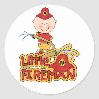 Little Fireman Tshirts and Gifts Classic Round Sticker