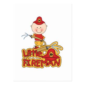 Little Fireman Tshirts and Gifts Postcard