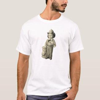 Little Fireman - Vintage Illustration T-Shirt