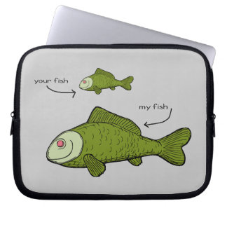 Little Fish. Big Fish. Your Fish. My Fish. Laptop Sleeves