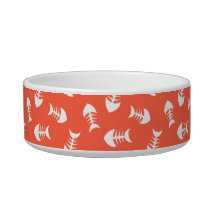Little Fish Bones Tomato Kitty Bowl