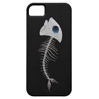 Little Fish Skeleton on Black iPhone SE/5/5s Case