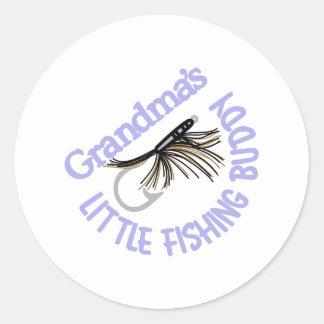 Little Fishing Buddy Classic Round Sticker