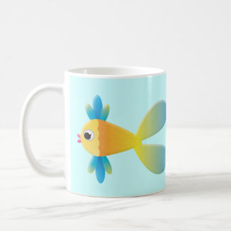 Little Fishy Cartoon Coffee Mug