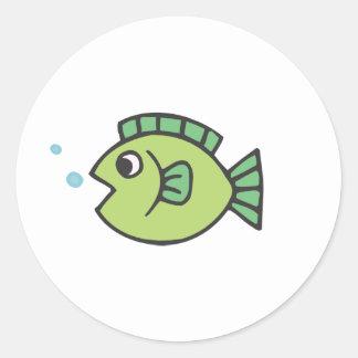 Little Fishy Classic Round Sticker