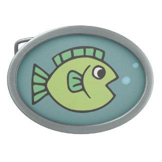 Little Fishy Oval Belt Buckle