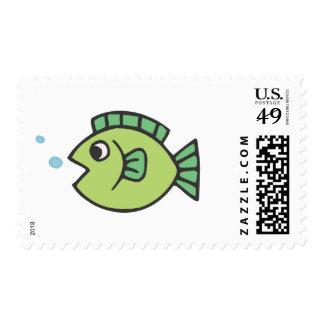 Little Fishy Postage Stamp