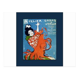 Little Flamenco Festival~Vincent D'Indy Barcelona Postcard