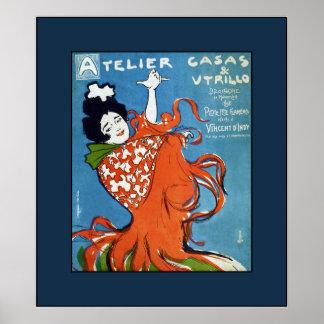 Little Flamenco Festival~Vincent D'Indy~Barcelona Poster