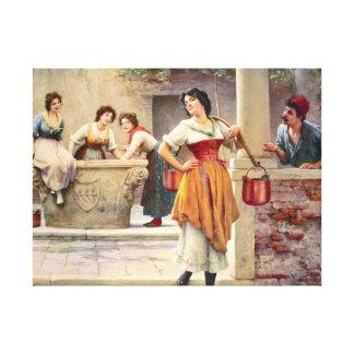 Little Flirt 1902 Canvas Print