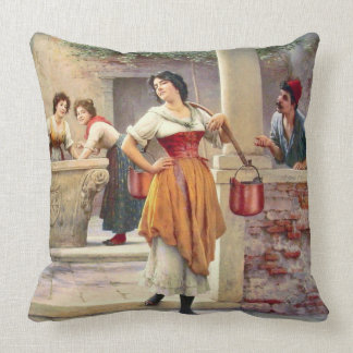 Little Flirt 1902 Throw Pillow