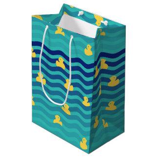 Little Floating Yellow Ducks Medium Gift Bag