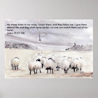 'Little Flock (Christian)' Print
