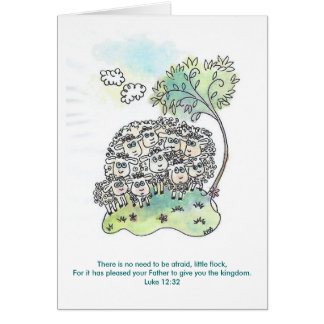 Little Flock Greeting Card