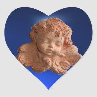 LITTLE FLORENTINE  ANGEL HEART HEART STICKER