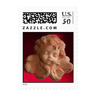 LITTLE FLORENTINE ANGEL Red Burgundy Postage