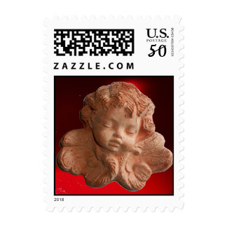 LITTLE FLORENTINE ANGEL red Postage
