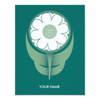 LITTLE FLOWER COMPLIMENT CARD GREEN