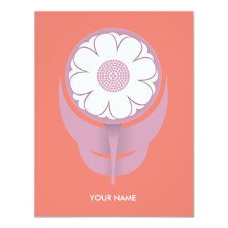 LITTLE FLOWER COMPLIMENT CARD SALMONPINK