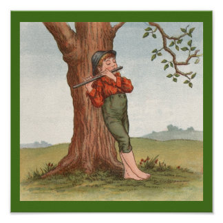 Little Flute Player by Ida Waugh 1892 (print) Poster