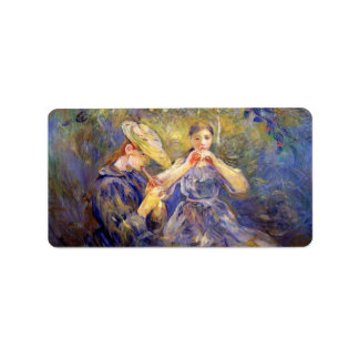 Little Flute players by Berthe Morisot Custom Address Labels