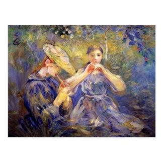 Little Flute players by Berthe Morisot Postcard