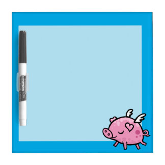 Little flying pig dry erase board