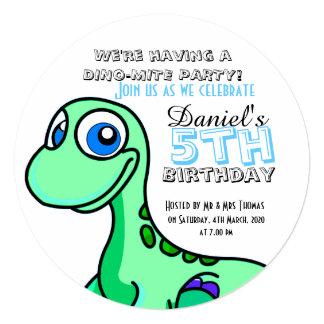 Little Foot Dinosaur Birthday Party Card