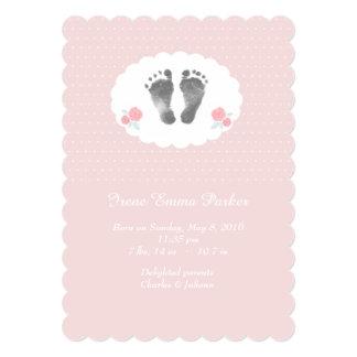 Little Footprints Birth Announcement