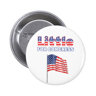 Little for Congress Patriotic American Flag 2 Inch Round Button