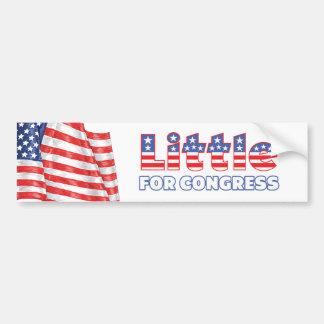 Little for Congress Patriotic American Flag Car Bumper Sticker