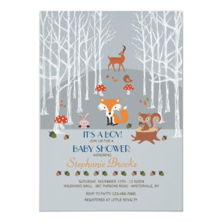 Little Forest Friends Baby Shower Invitation