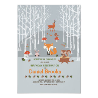 Little Forest Friends Invitation