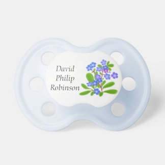 Little Forget Me Not Flowers Baby Pacifier