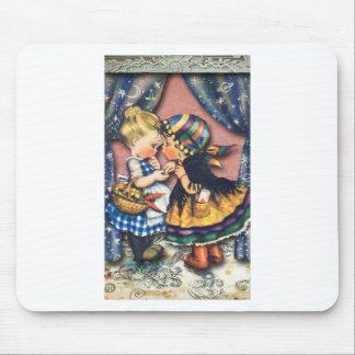 Little Fortune Teller altered art original Mousepads