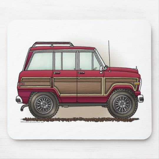 Little Four Wheel Station Wagon Mouse Pad