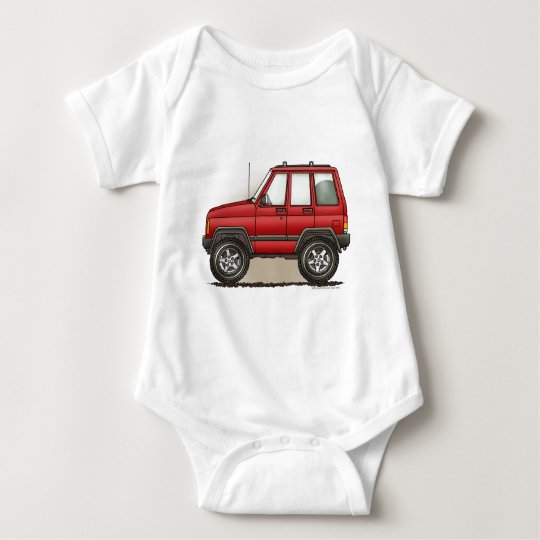 Little Four Wheel SUV Car Baby Bodysuit