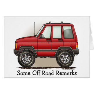 Little Four Wheel SUV Car Stationery Note Card