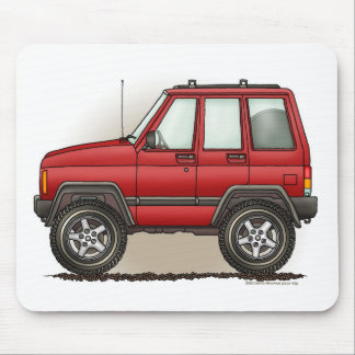 Little Four Wheel SUV Car Mouse Pad