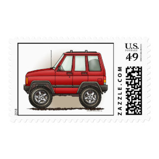 Little Four Wheel SUV Car Postage Stamps