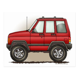 Little Four Wheel SUV Car Postcard