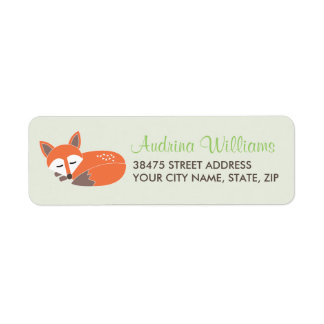 Little Fox Address Label
